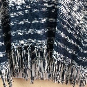 Style & Co Dresses - Style & Co. Blue and white fringe sweater dress XL